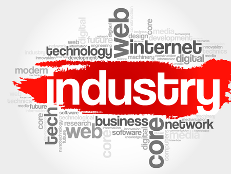finacial: Industry word cloud, business concept
