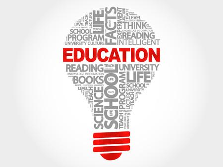education concept: Education bulb word cloud, business concept
