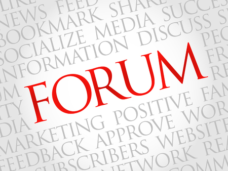 microblogging: Forum word cloud, business concept