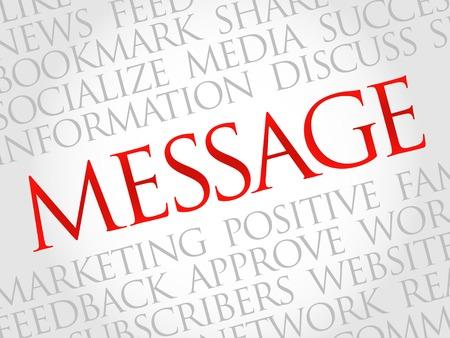 advisement: Message word cloud, business concept