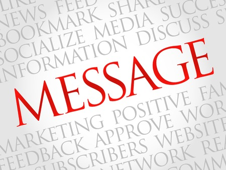 announcing: Message word cloud, business concept
