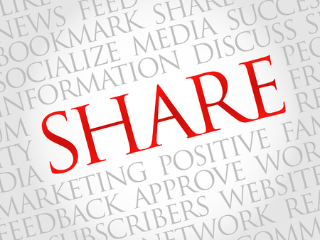 wiki: Share word cloud, business concept Illustration