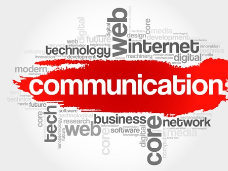 non verbal: COMMUNICATION word cloud, business concept