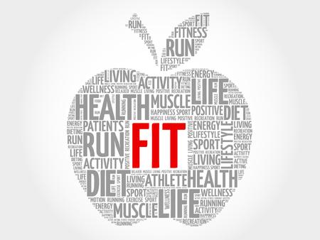 fit: FIT apple word cloud concept Illustration