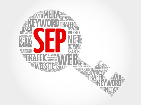 sep: SEP - Search Engine Positioning Key word cloud, business concept