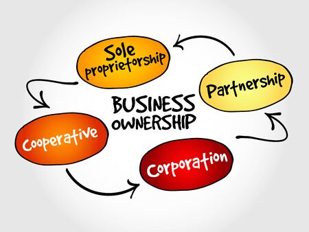 entities: Business ownership mind map concept Illustration