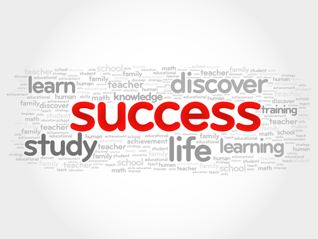 complete solution: Success word cloud, business concept