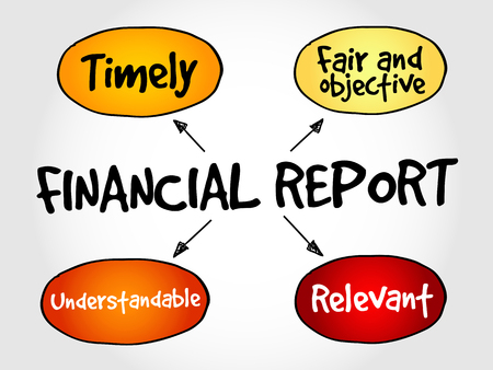 account executive: Financial report mind map, business concept Illustration