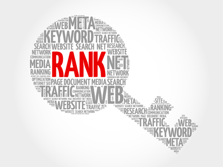 RANK Key word cloud, business concept