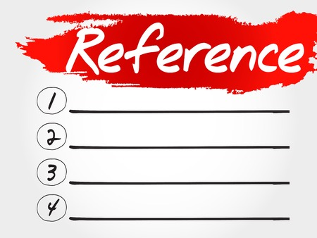 reference: Reference blank list, business concept Illustration