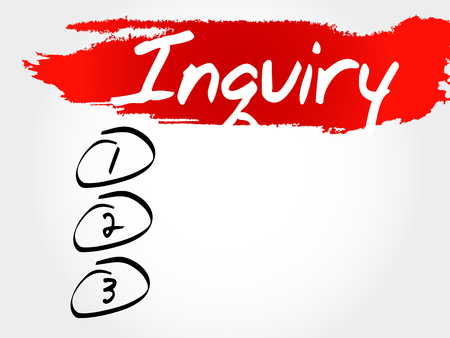 inquiry: Inquiry blank list, business concept Illustration