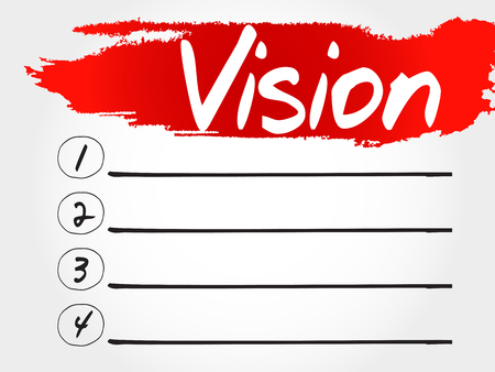 Vision blank list, business concept