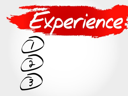 erudition: Experience blank list, business concept Illustration