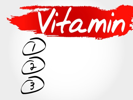 oxidizing: VITAMIN blank list, fitness, sport, health concept