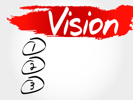 delusion: Vision blank list, business concept