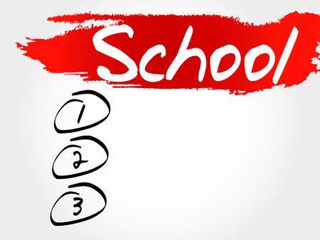 erudition: School blank list, education concept
