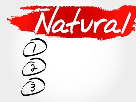 increase fruit: NATURAL blank list, fitness, sport, health concept Illustration