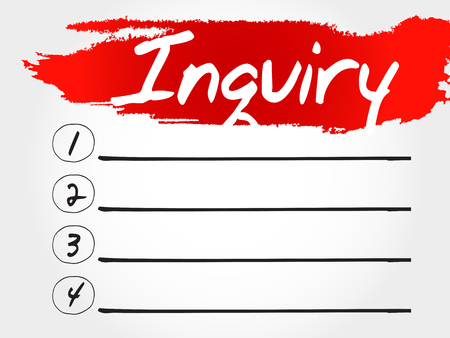 interrogate: Inquiry blank list, business concept Illustration