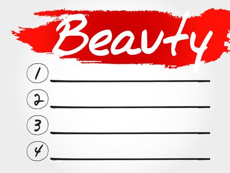 sexual health: BEAUTY blank list, fitness, sport, health concept
