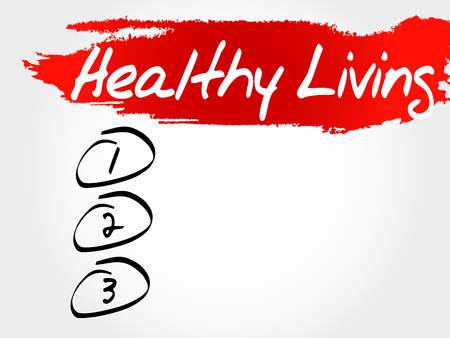 healthy living: Healthy Living blank list, health concept