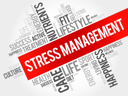 transactional: Stress Management word cloud, health concept Illustration