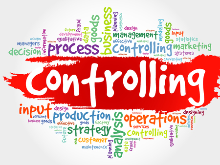controlling: Controlling word cloud, business concept Illustration