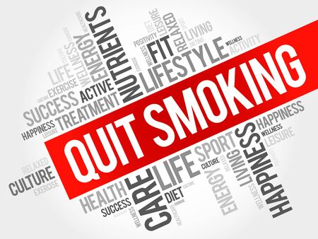 quit smoking: Quit Smoking word cloud, health concept