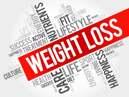 Weight Loss word cloud, health concept