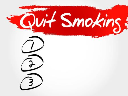 nicotine patch: Quit Smoking blank list, health concept
