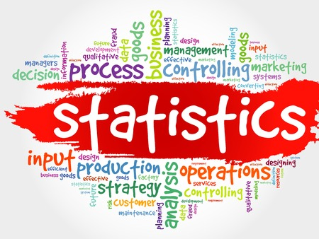 stratgy: STATISTICS word cloud, business concept