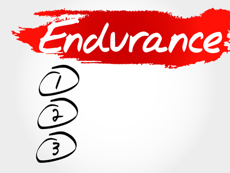 build buzz: ENDURANCE blank list, fitness, sport, health concept