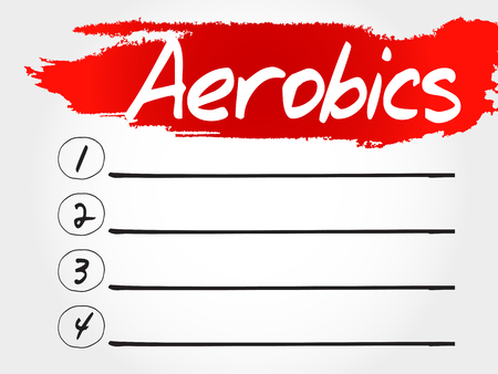 vital: Aerobics blank list, health concept Illustration