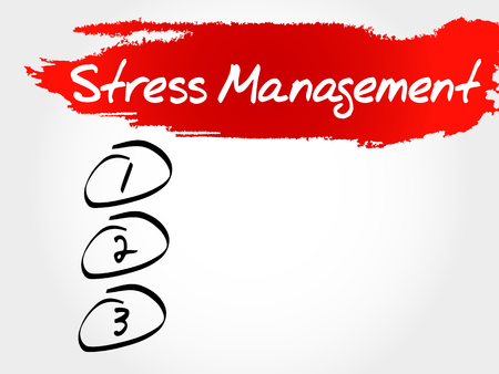 stress management: Stress Management blank list, health concept Illustration
