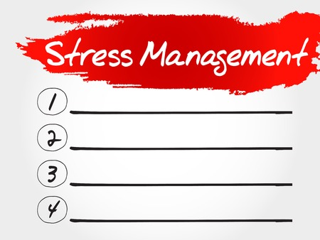 involves: Stress Management blank list, health concept Illustration