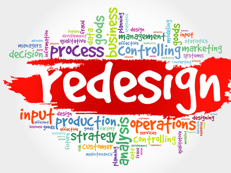 redesign: REDESIGN word cloud, business concept