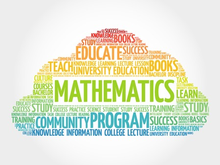 Mathematics word cloud, education concept