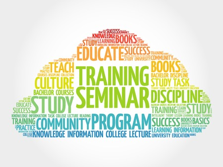 studing: Training Seminar word cloud, education concept
