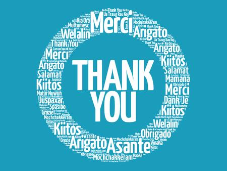 ありがとうございます、すべての言語の単語の雲背景