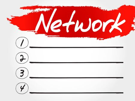 malicious software: NETWORK blank list, business concept Illustration