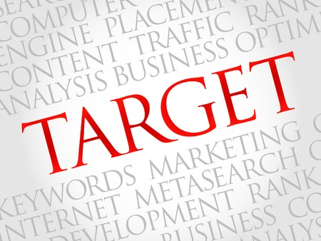 smart goals: TARGET word cloud, business concept