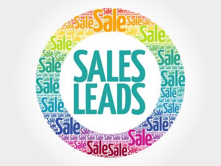 sociable: Sales Leads words cloud, business concept background Illustration