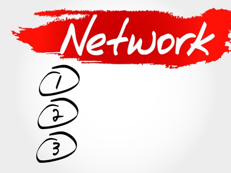 trojanhorse: NETWORK blank list, business concept Illustration