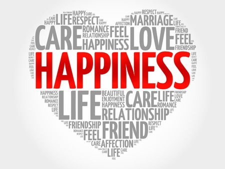 romantic couple: Happiness concept heart word cloud