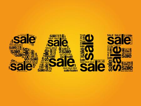 dealing: SALE Word, words cloud, business concept Illustration