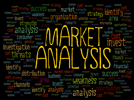 market analysis: Market Analysis word cloud, business concept