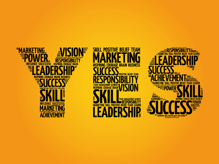 leadership key: YES word cloud, business concept
