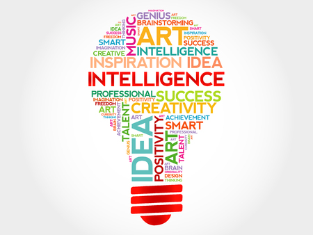 involves: Intelligence bulb word cloud concept