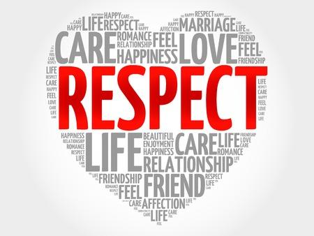 Respekt Konzept Herz-Wort-Wolke