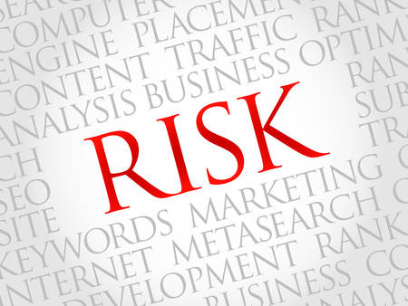 environmental analysis: RISK word cloud, business concept