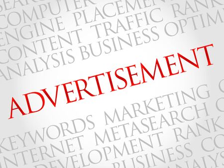 advertisement: ADVERTISEMENT word cloud, business concept